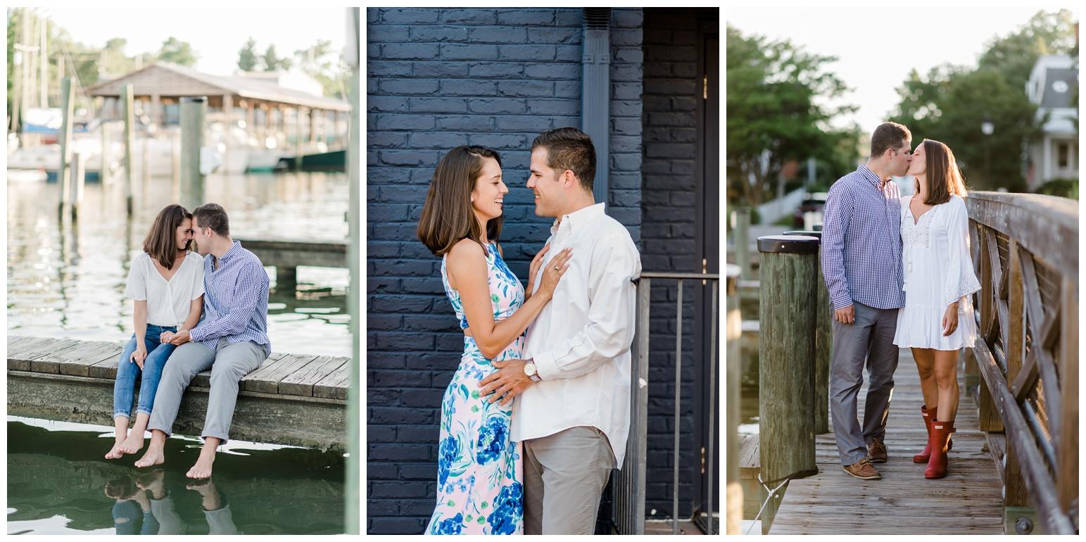 coastal - classic chesapeake bay engagement - bayside - maryland eastern shore inspiration - inspired - outdoor summer photoshoot with sailboats - sunset - golden hour light