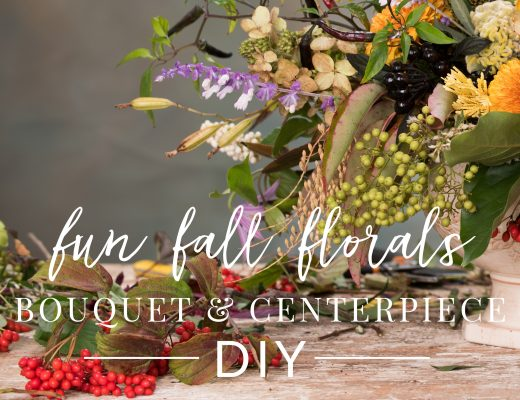 Fall Floral DIY Centerpiece and Bouquet