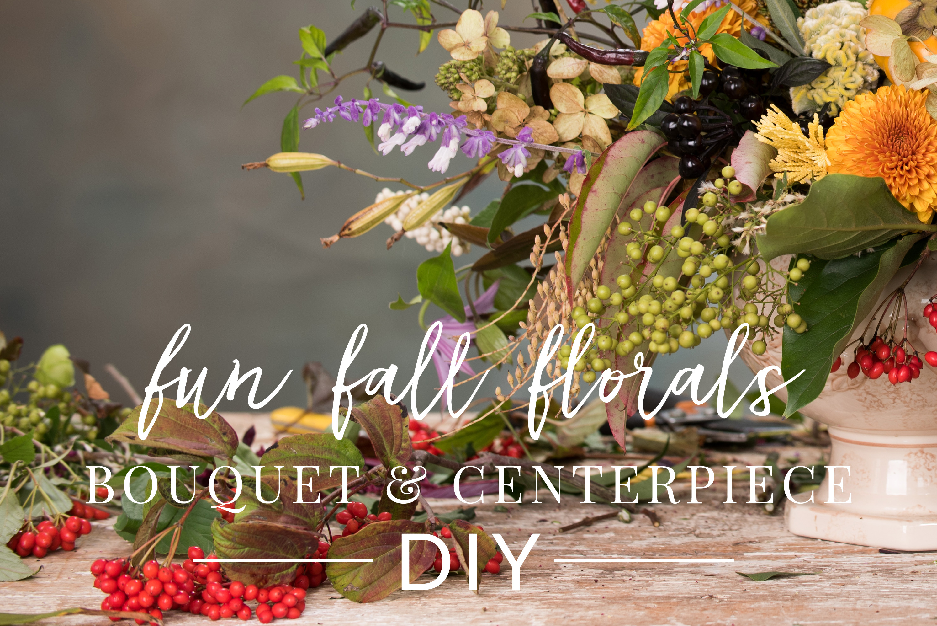 DIY Fall Centerpiece and Bridal Bouquet with native plants from the Eastern Shore