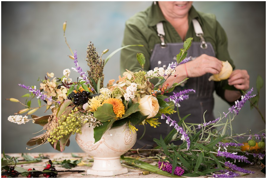 Sweetbay Flowers Nancy Beatty creates a lovely fall centerpiece