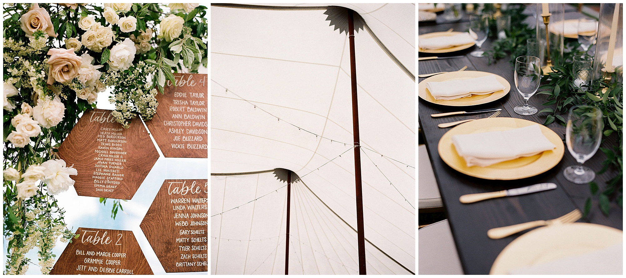 timeless wedding inspiration with boho and romantic name card display, geometric escort cards, moody and dark table setting decor, and perfect eastern shore maryland vibes. now featured on eastern shore wedding blog, my eastern shore wedding