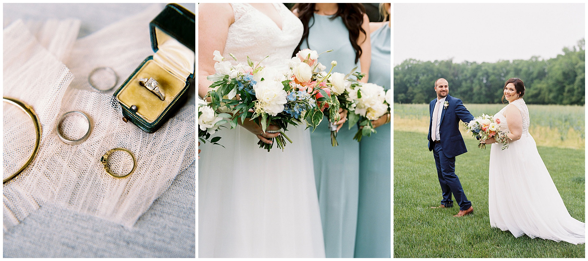 romantic and timeless wedding inspiration from pink and blue rainy day wedding on the eastern shore (spoiler: it's glorious and outdoor)