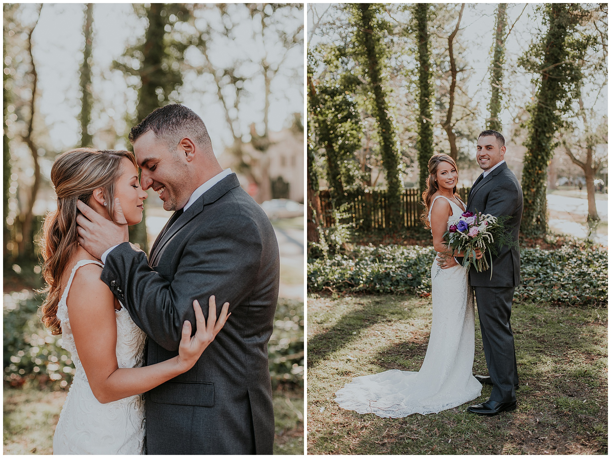bride and groom smiling outdoors. boho theme inspiration and ideas at chanceford hall bed and breakfast.