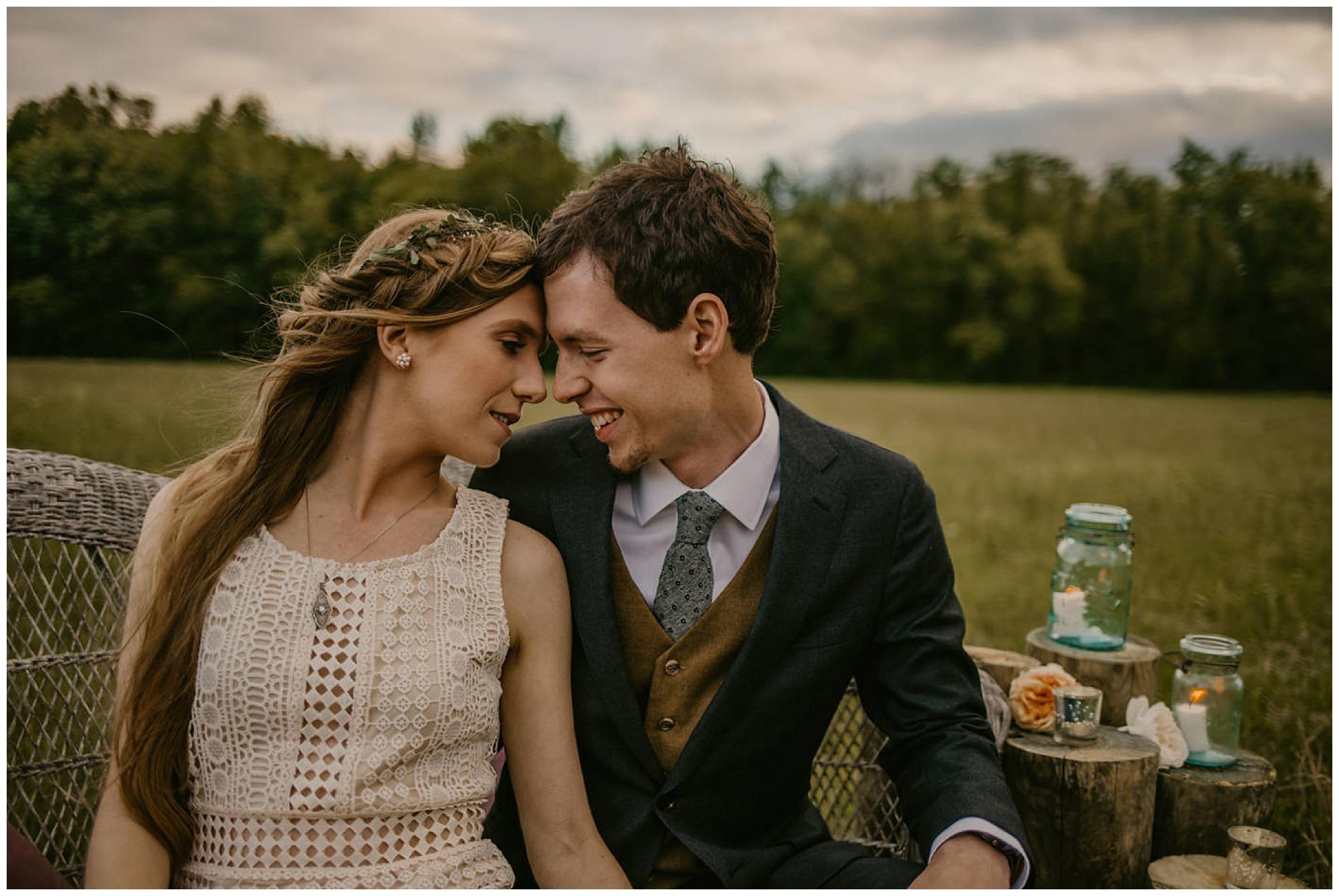 moody, vintage, boho wedding style on maryland eastern shore. chesapeake bay area elopement.