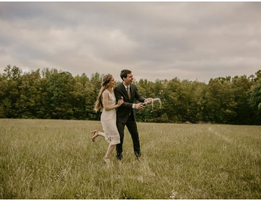 carefree boho and eco style elopement at prancing deer farm in maryland | now featured on my eastern shore wedding blog