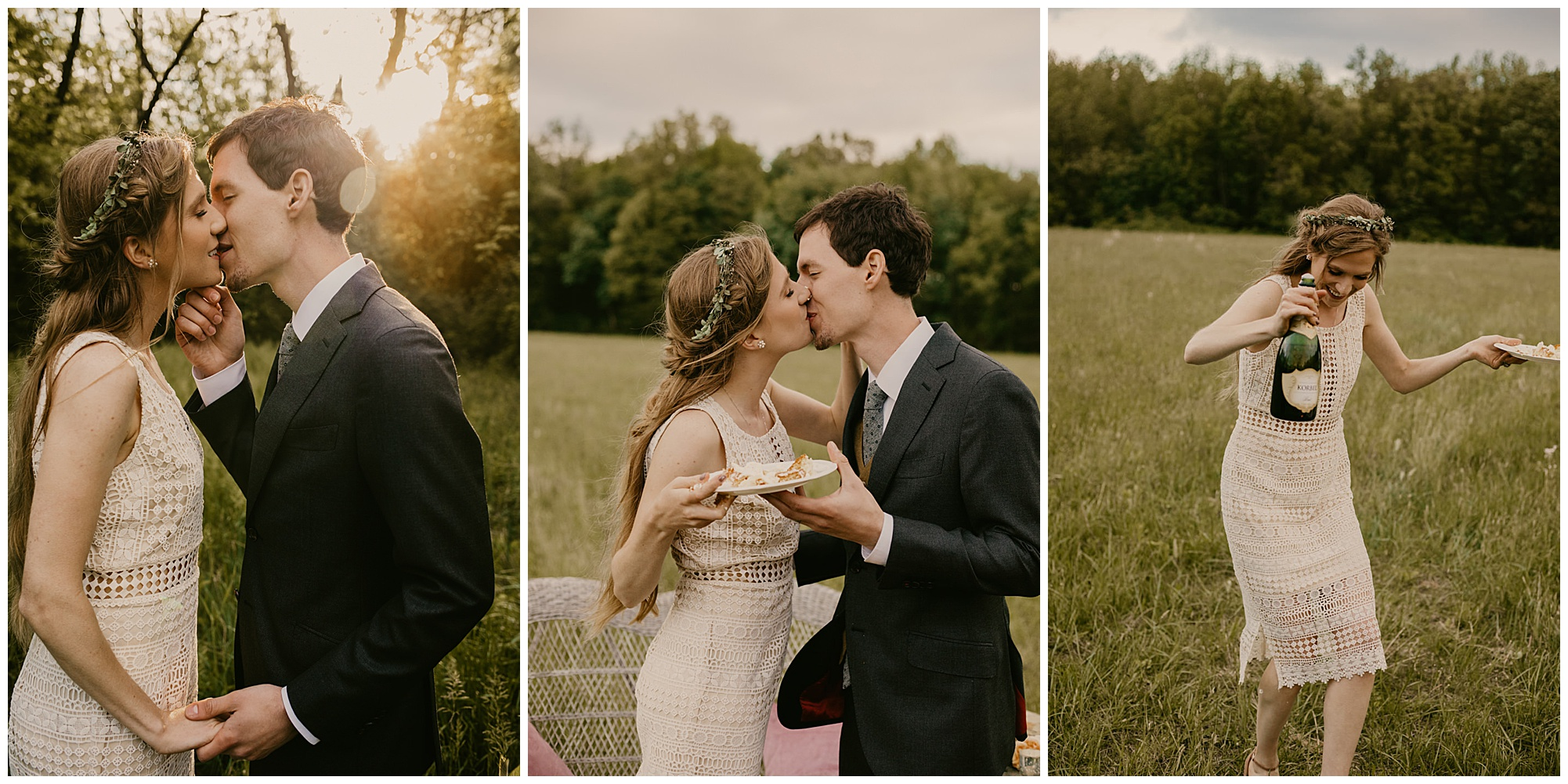 chic boho style wedding and carefree elopement inspo at prancing deer farm now featured on my eastern shore wedding blog