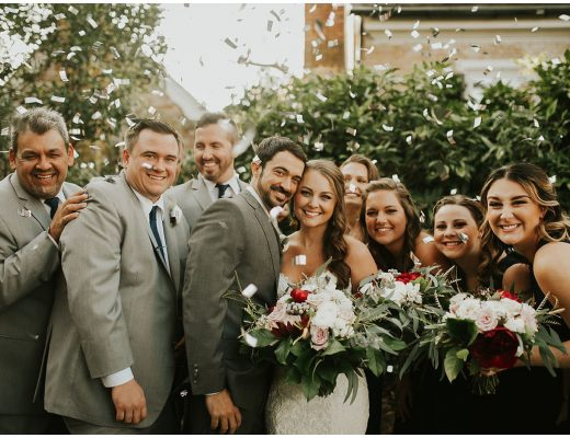 cue the confetti for this fall wedding at the tidewater inn venue in easton maryland. now featured on my eastern shore wedding blog.