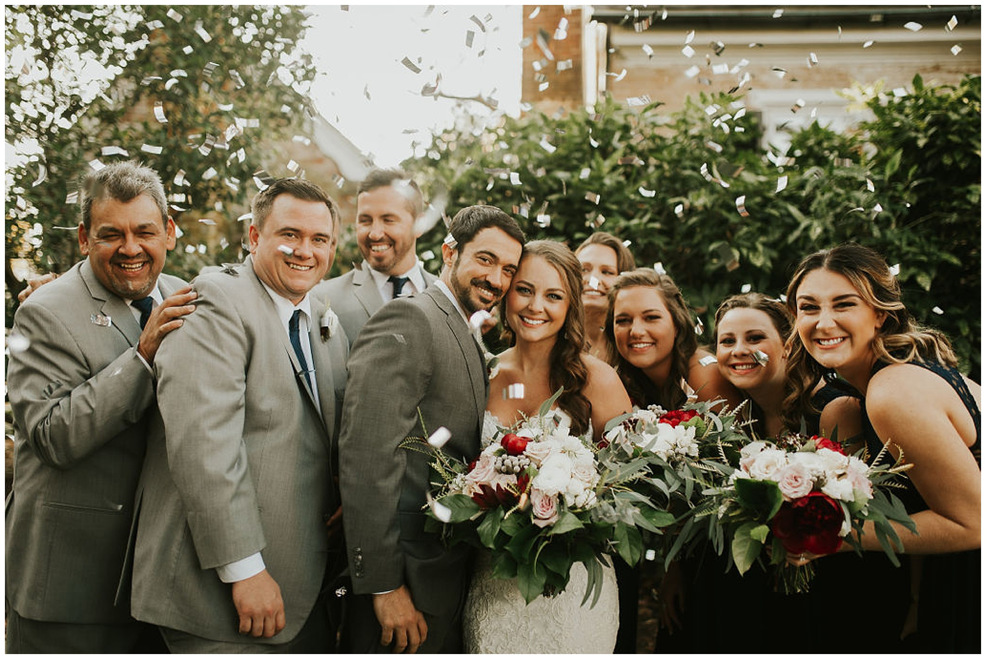 cue the confetti. this fall autumn inspired tidewater inn wedding is all kinds of glamorous and fun wedding inspo. now featured on my eastern shore wedding.