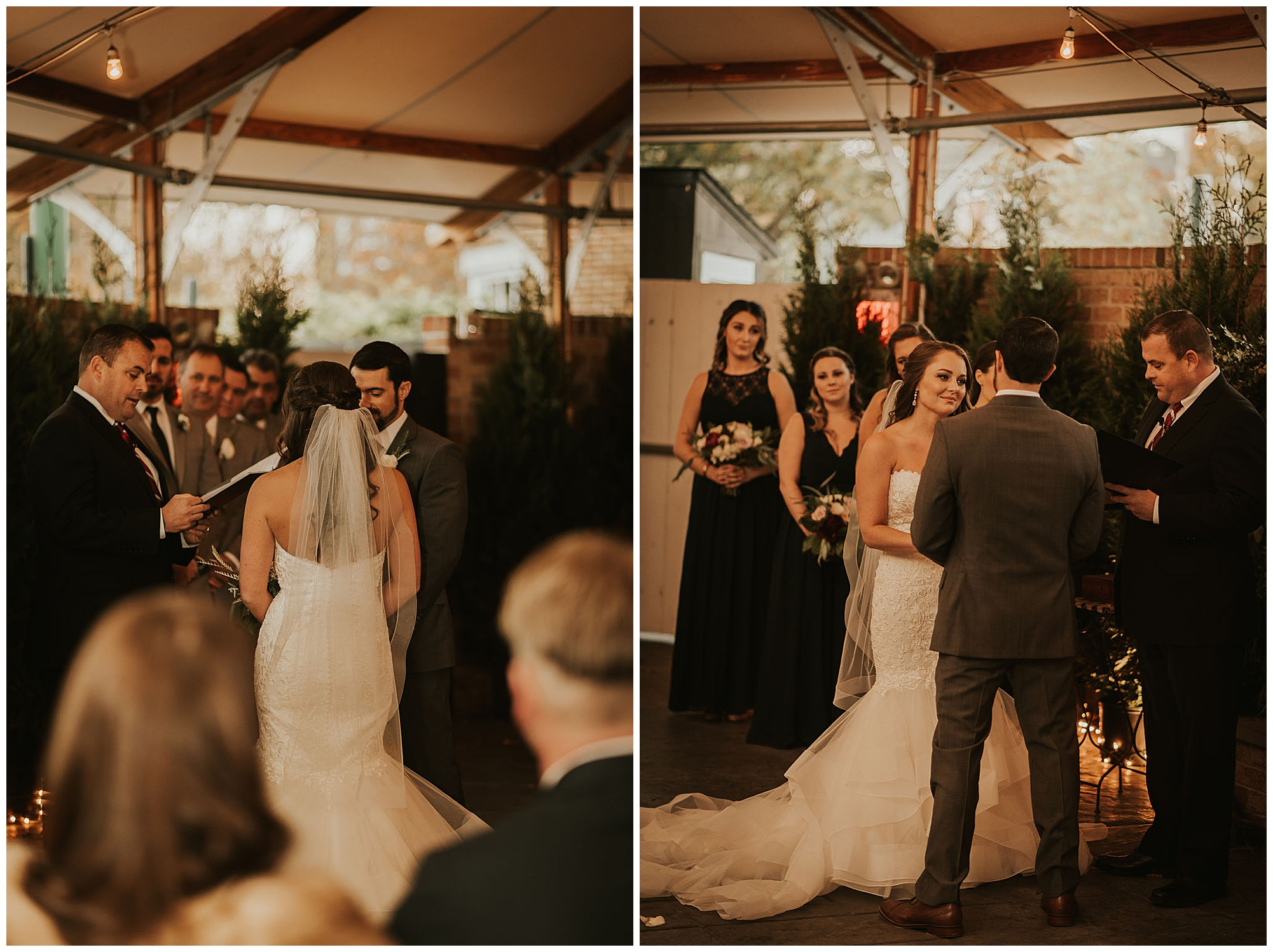 romantic, classy wedding inspiration and ideas at the tidewater inn venue in easton maryland in the autumn fall. outdoor ceremony in tent yurt style setting with fireplace. moody sultry and totally gorgeous. now featured on my eastern shore wedding blog.