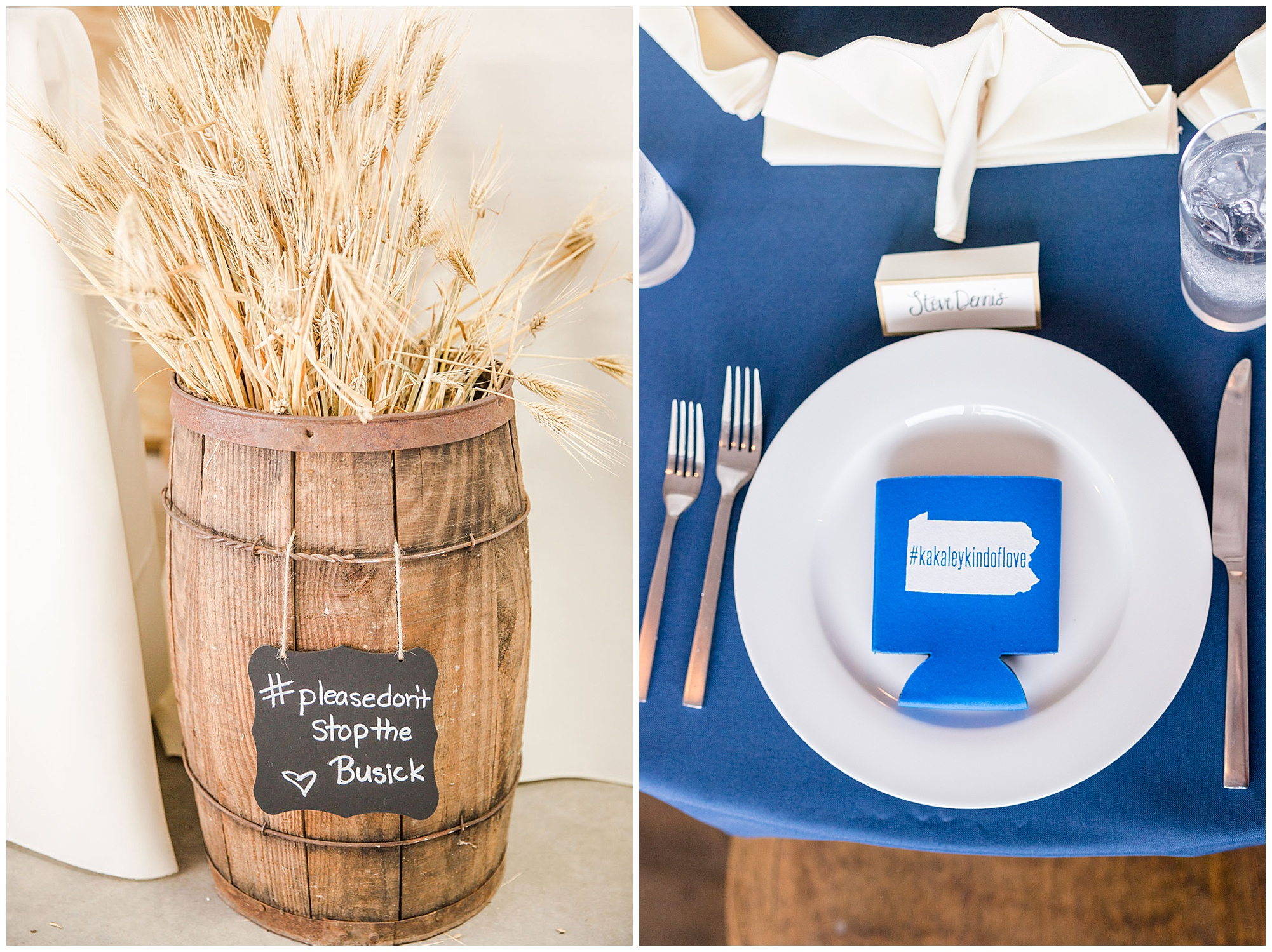 Cute ideas for using wedding hashtags at your wedding.