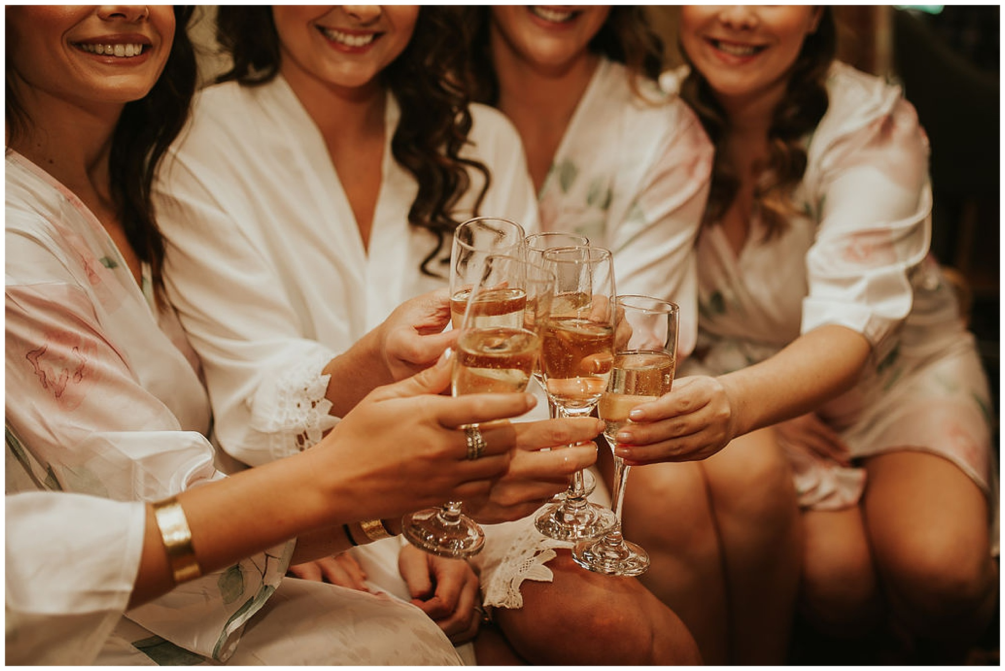 wedding party. bridesquad clinking champagne glasses before ceremony at the tidewater inn. fall wedding inspo and ideas now on my eastern shore wedding.