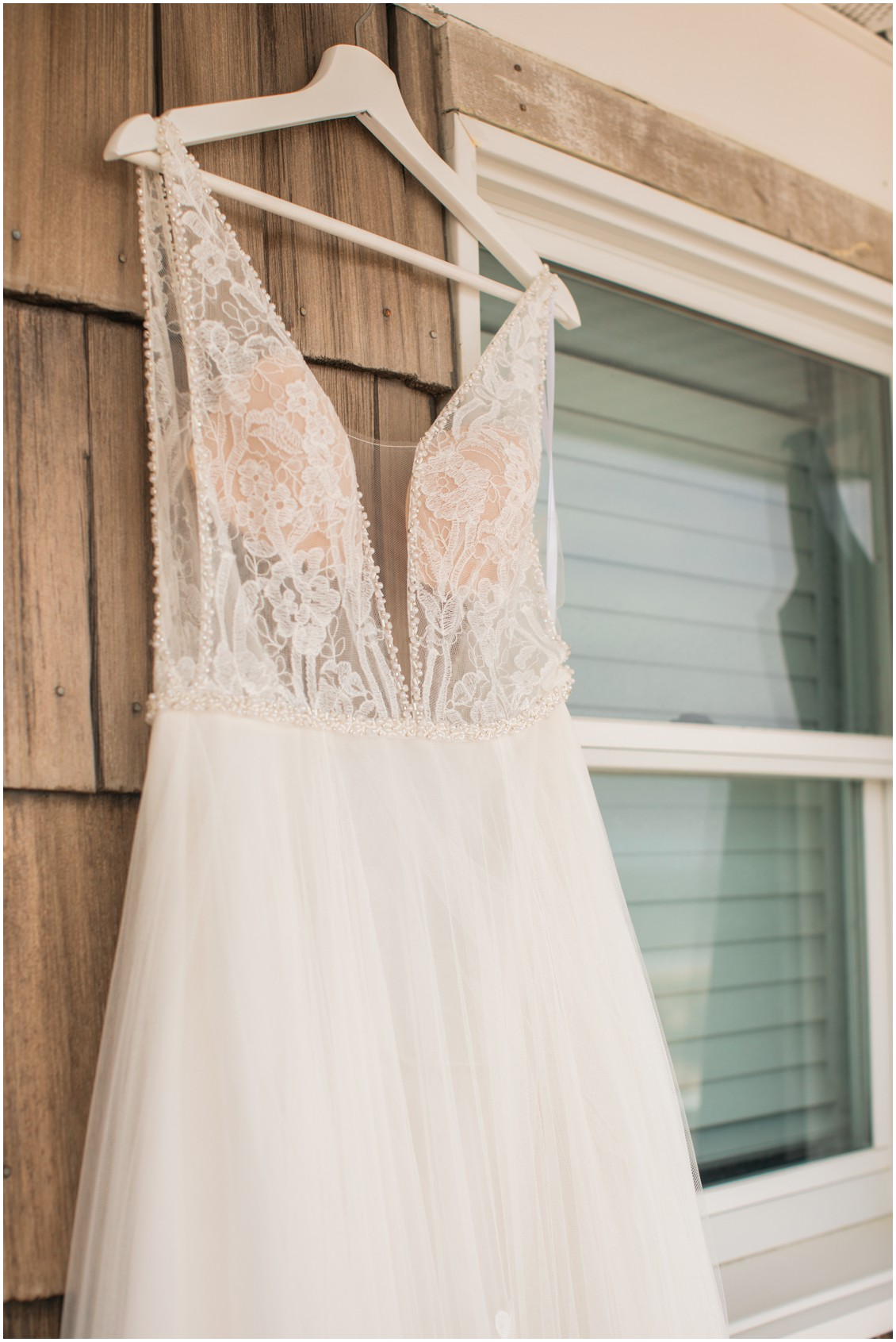 Detail shot of a bridal gown |My Eastern Shore Wedding |Dover Tents and Events