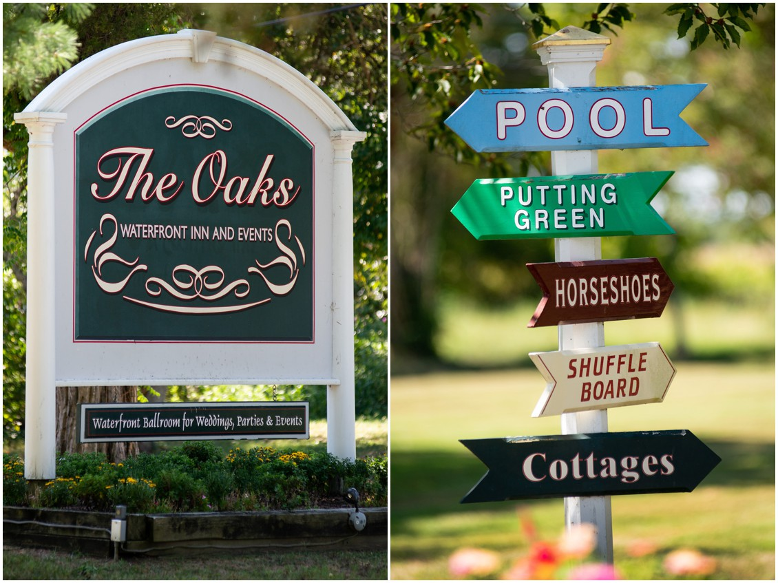 Signage at wedding venue | My Eastern Shore Wedding | The Oaks Waterfront Inn | Monteray Farms