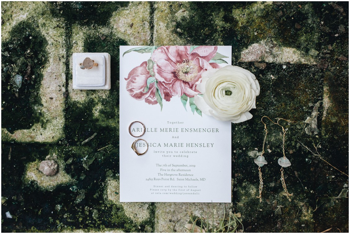 Wedding stationery and other details. | My Eastern Shore Wedding | Sherwood Florist | Cecile Storm Photography