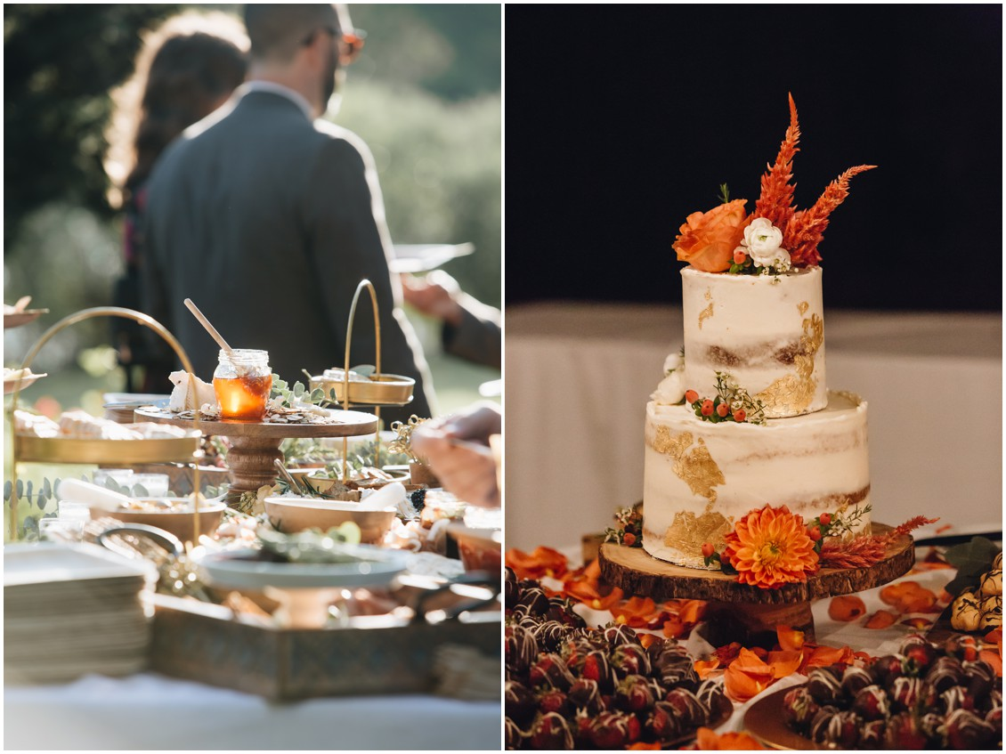 Charcuterie and cake detail shots | My Eastern Shore Wedding | Sherwood Florist | Cecile Storm Photography