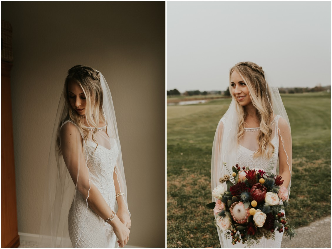 Bride in BHLDN beaded gown portraits with long veil | My Eastern Shore Wedding | Bear Trap Dunes | Coastal Tented Events