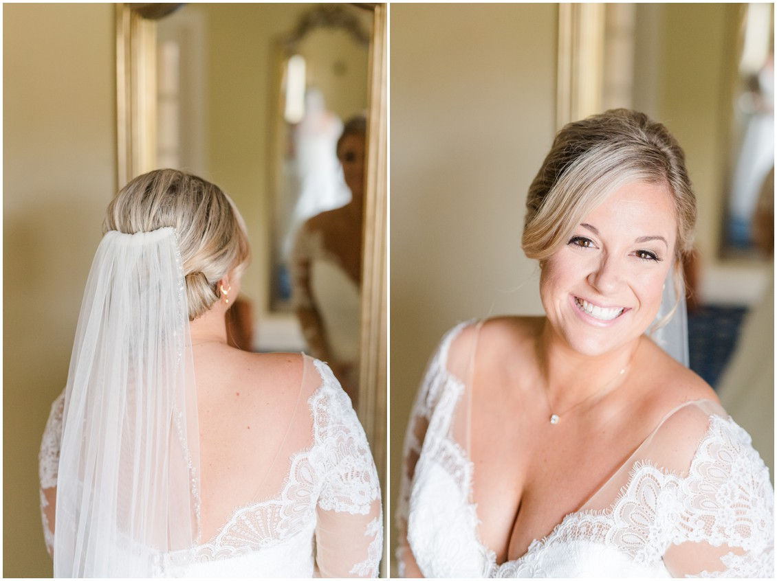 Bridal portrait and portrait of veil | My Eastern Shore Wedding | The Tidewater Inn