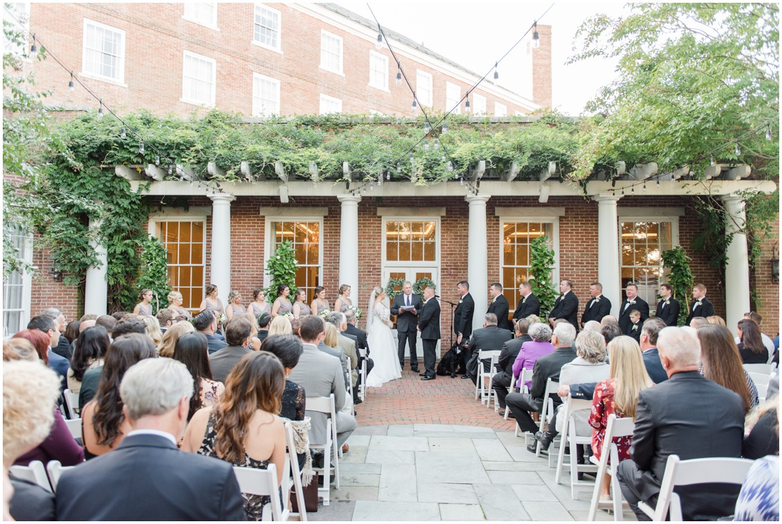 Wide view of wedding ceremony | My Eastern Shore Wedding | The Tidewater Inn