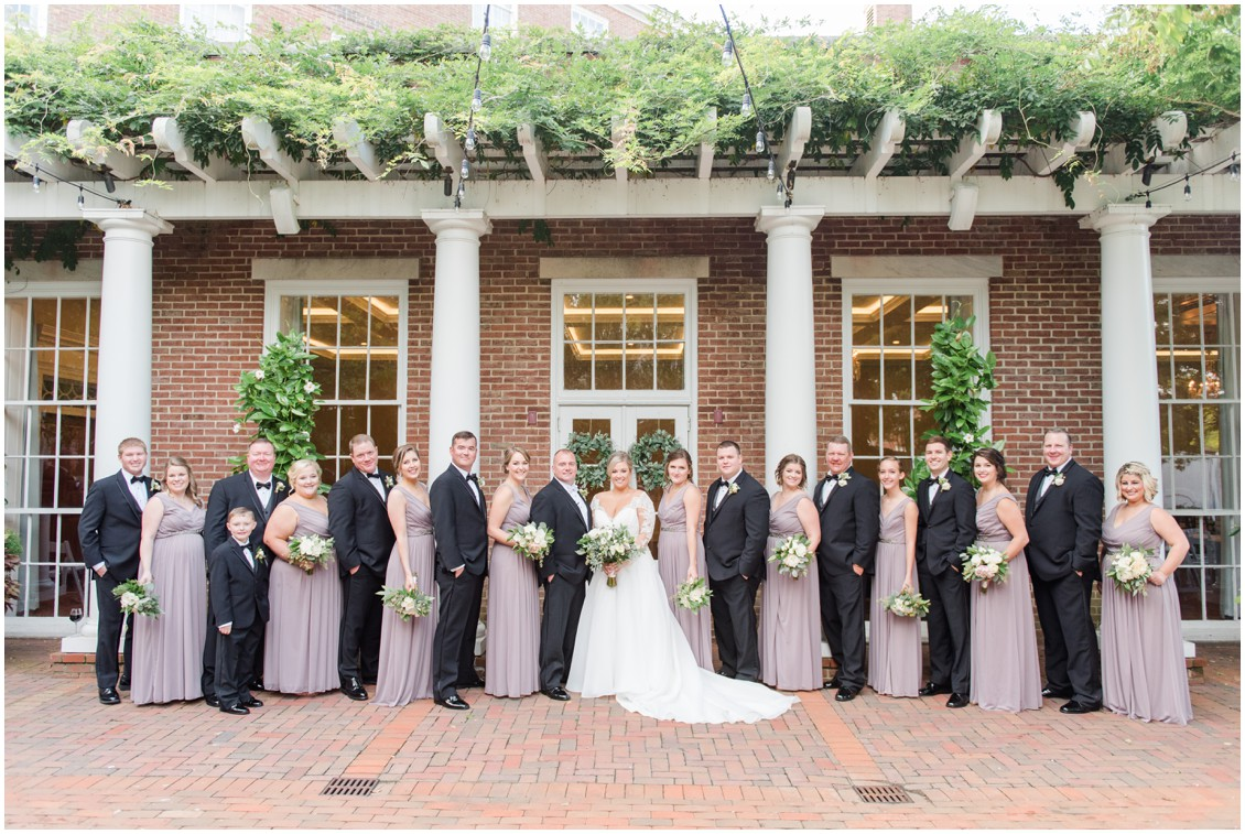 Bridal party with bride and groom | My Eastern Shore Wedding | The Tidewater Inn