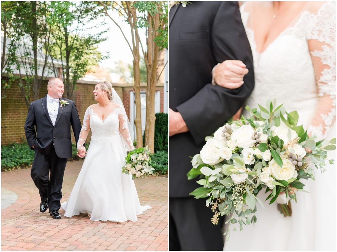 Bride and groom portraits | My Eastern Shore Wedding | The Tidewater Inn
