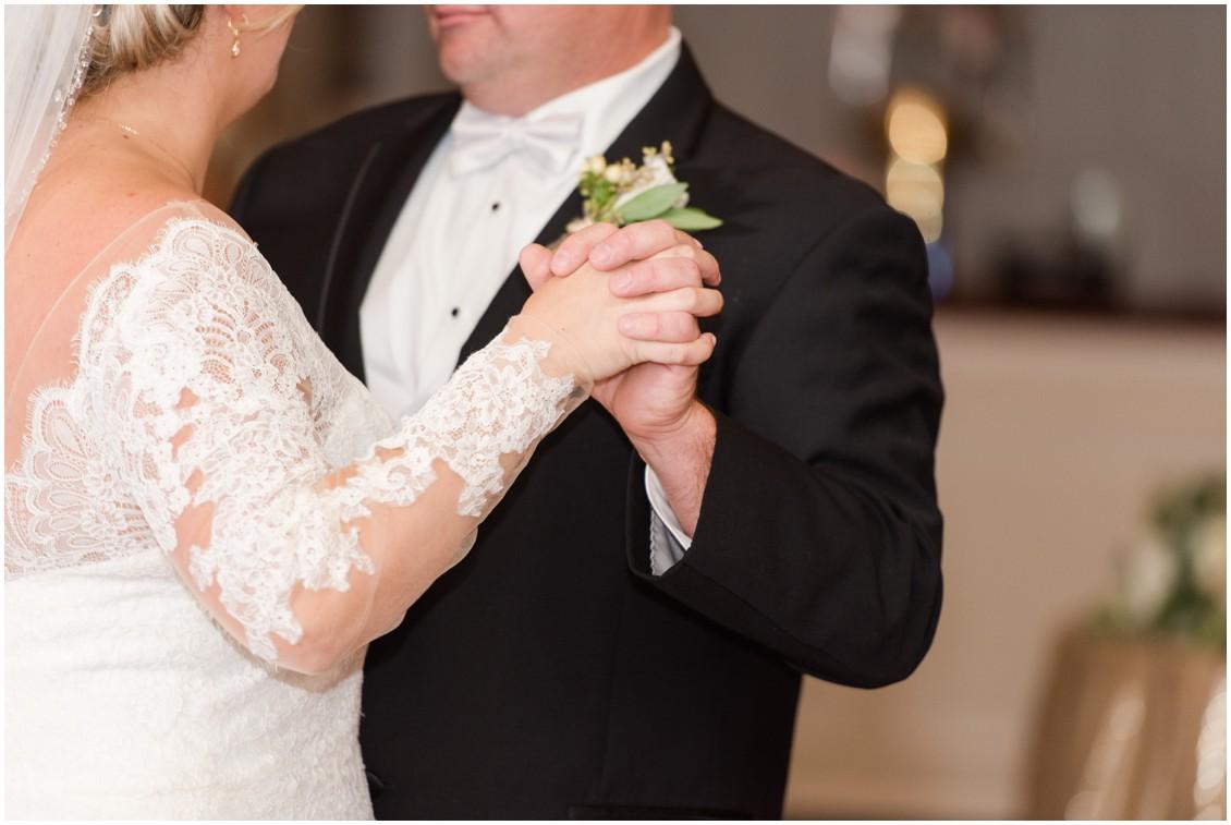Bride and groom dancing at timeless Eastern Shore wedding | My Eastern Shore Wedding | The Tidewater Inn