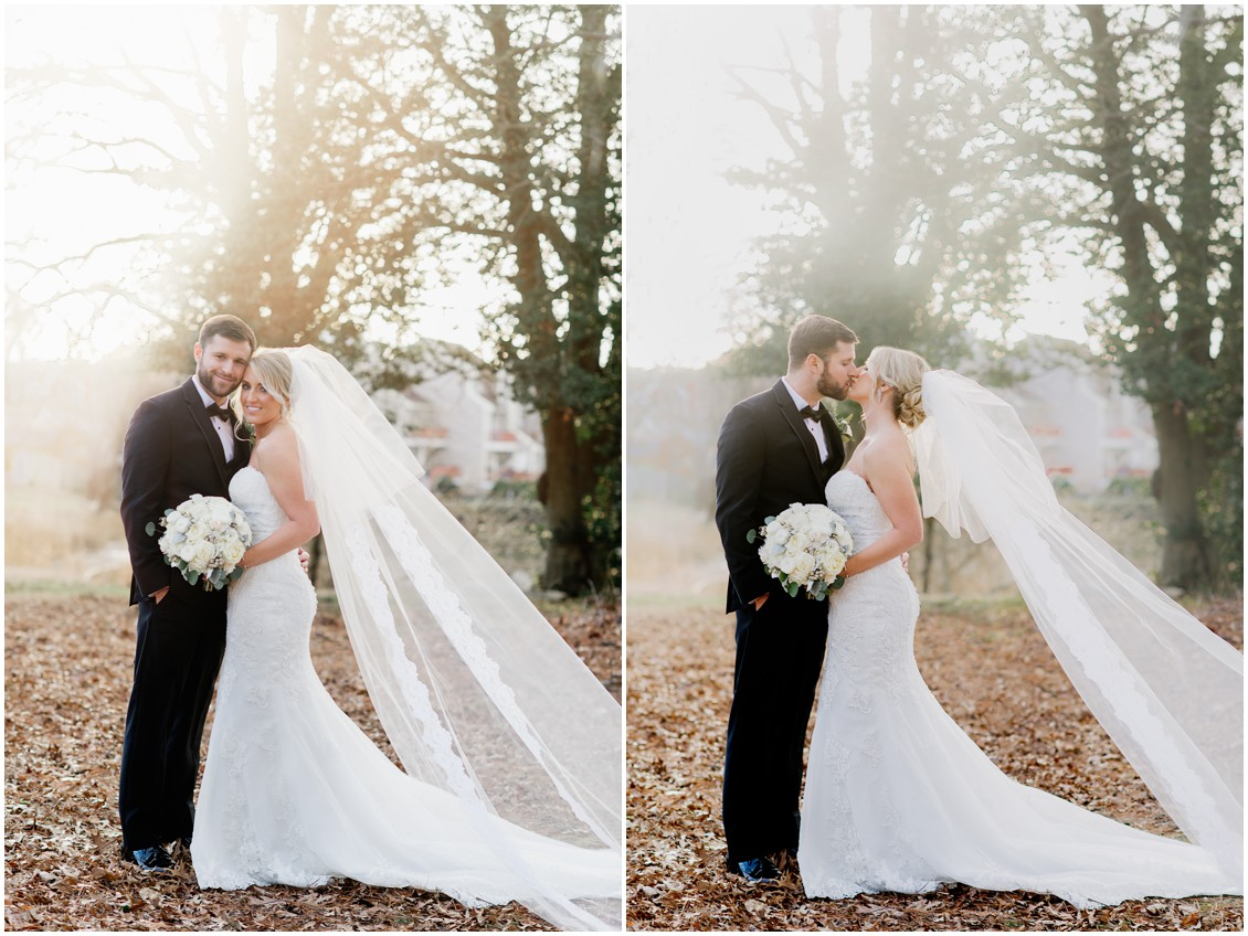 Bride and groom portraits winter wedding | My Eastern Shore Wedding | Karena Dixon | Monteray Farms