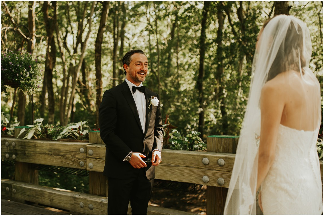 First look groom's reaction  | My Eastern Shore Wedding