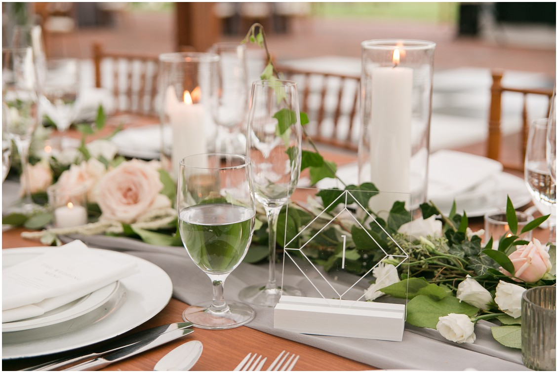 Detail of tablescape | Brittland Manor | Rob Korb | Eastern Shore Tents and Events | My Eastern Shore Wedding