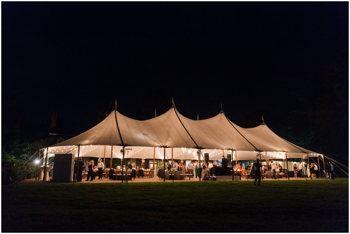 Lighted sailcloth tent | Eastern Shore Tents and Events | Brittland Manor | Rob Korb |  My Eastern Shore Wedding