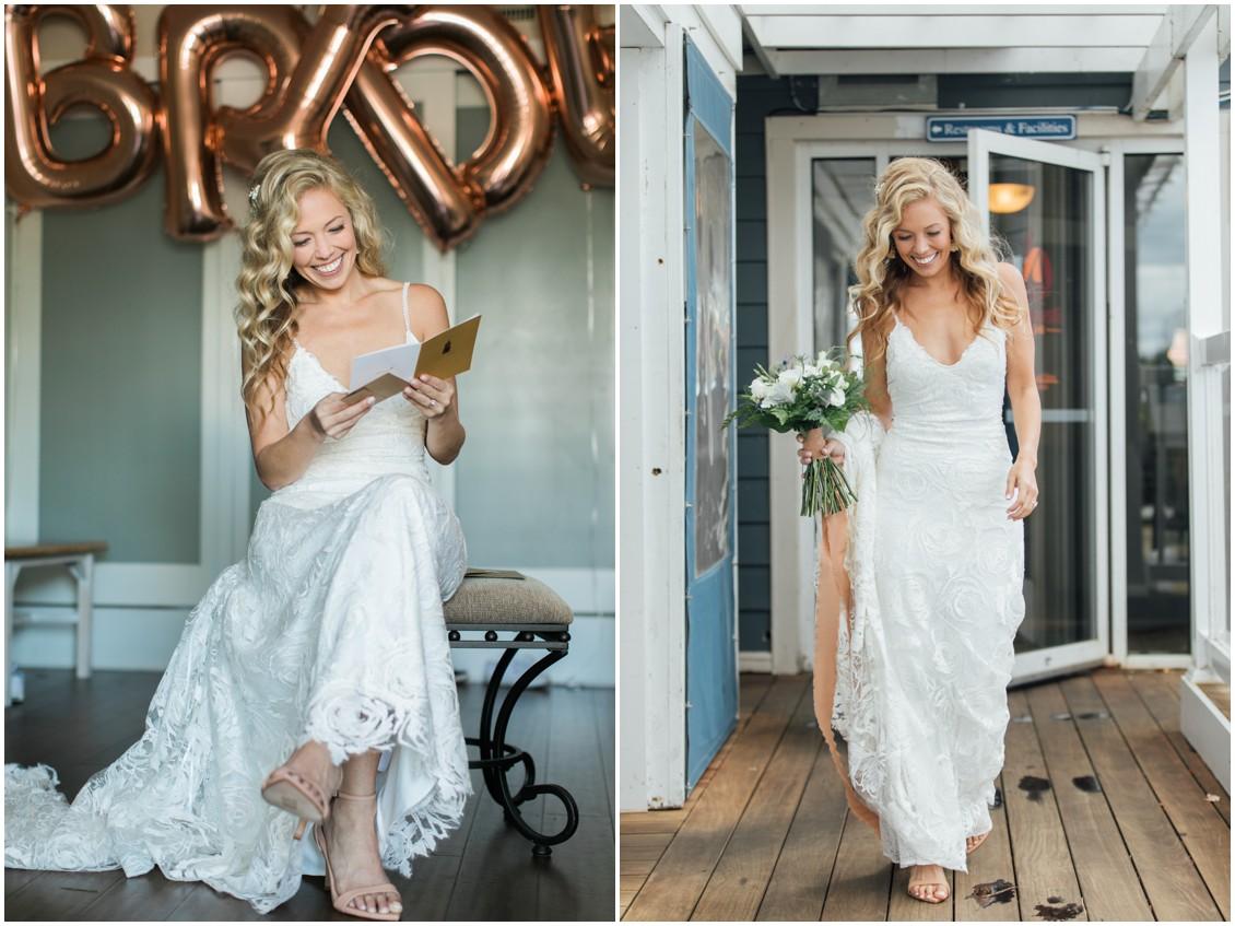 Bride getting ready | My Eastern Shore Wedding | Chesapeake Bay Maritime Museum