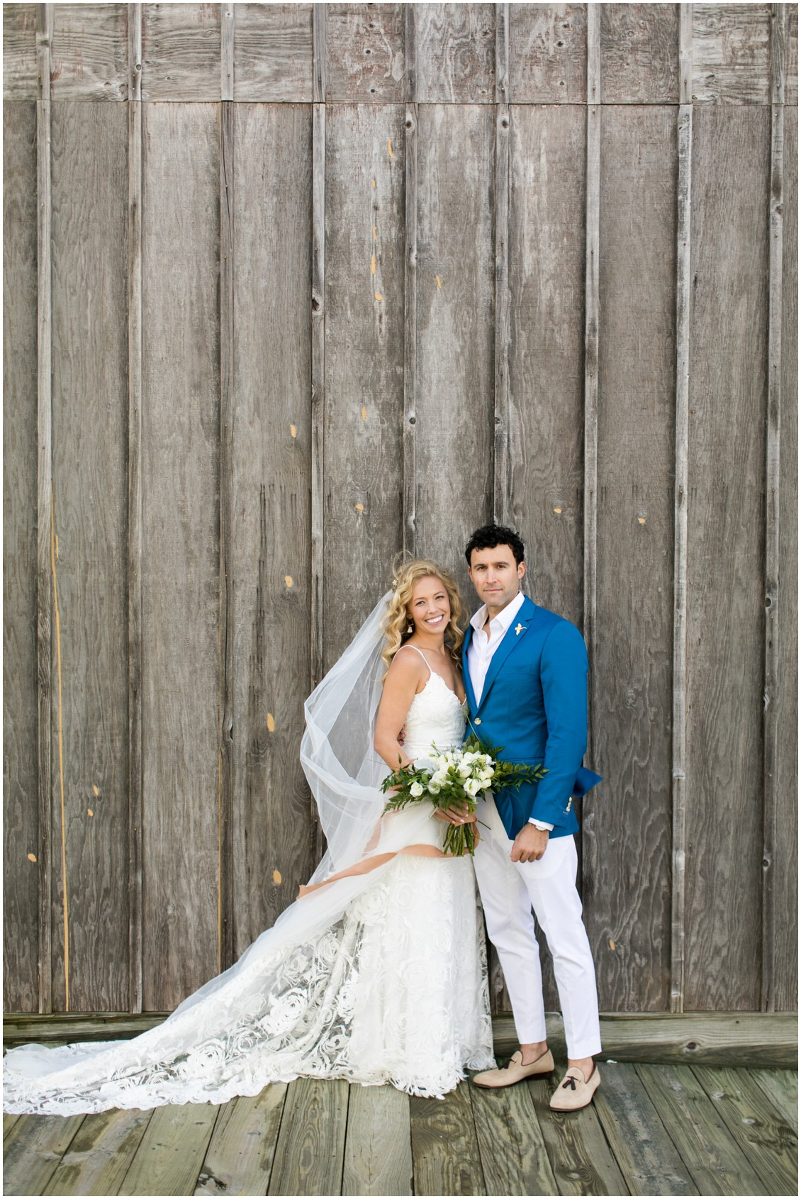 Bride and groom portrait at boat house | My Eastern Shore Wedding | Chesapeake Bay Maritime Museum