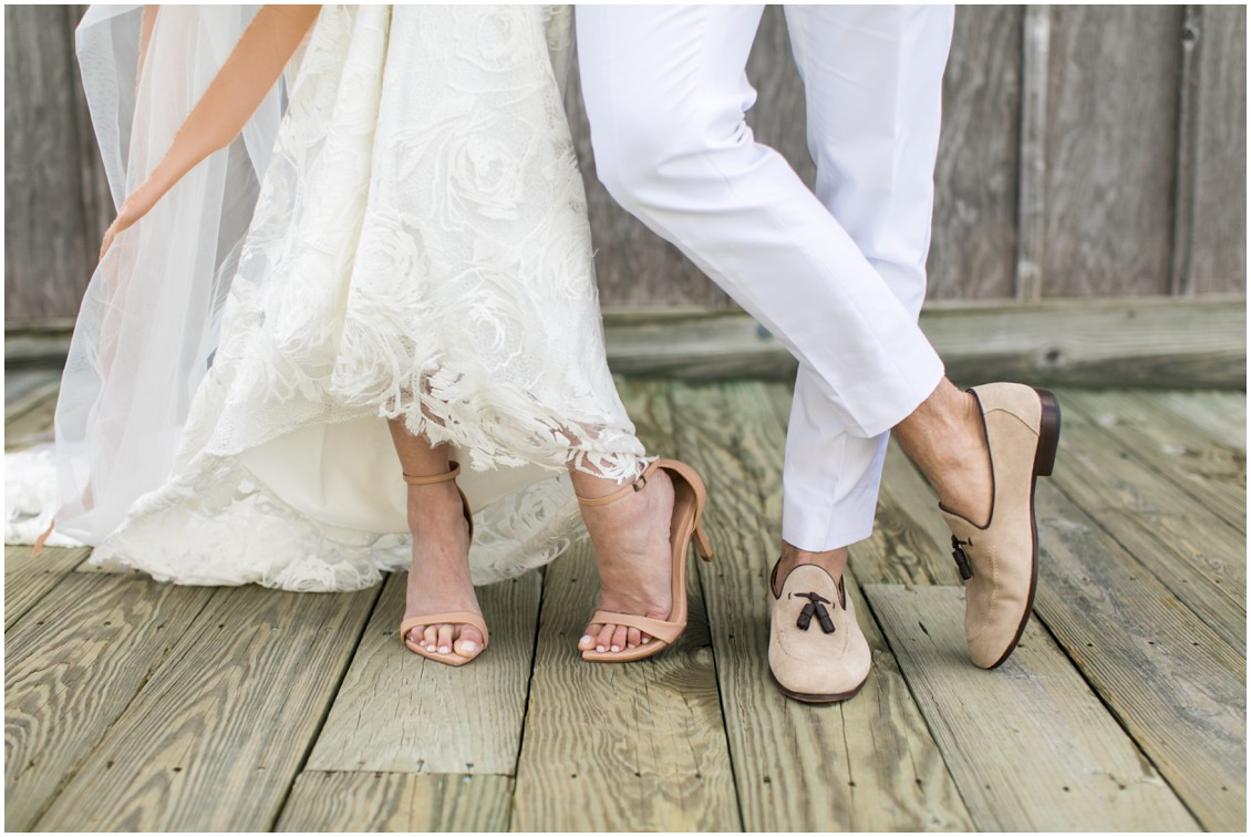 Bride and groom shoes | My Eastern Shore Wedding | Chesapeake Bay Maritime Museum