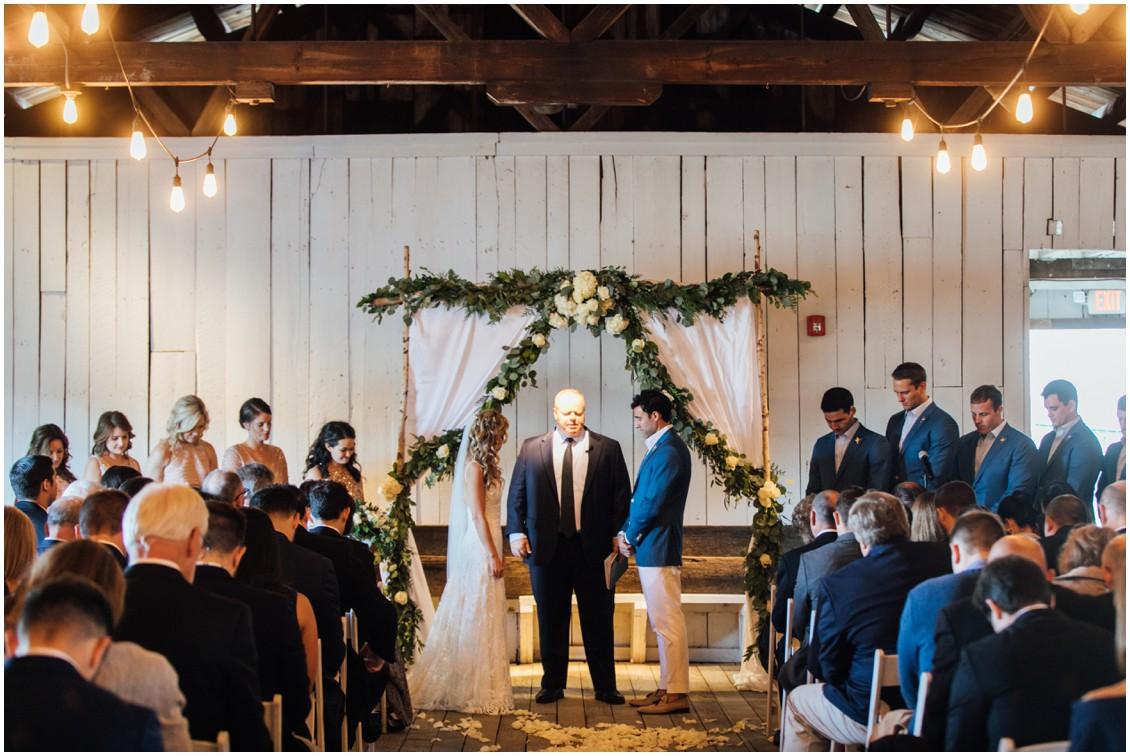 Bride and groom at altar | My Eastern Shore Wedding | Chesapeake Bay Maritime Museum