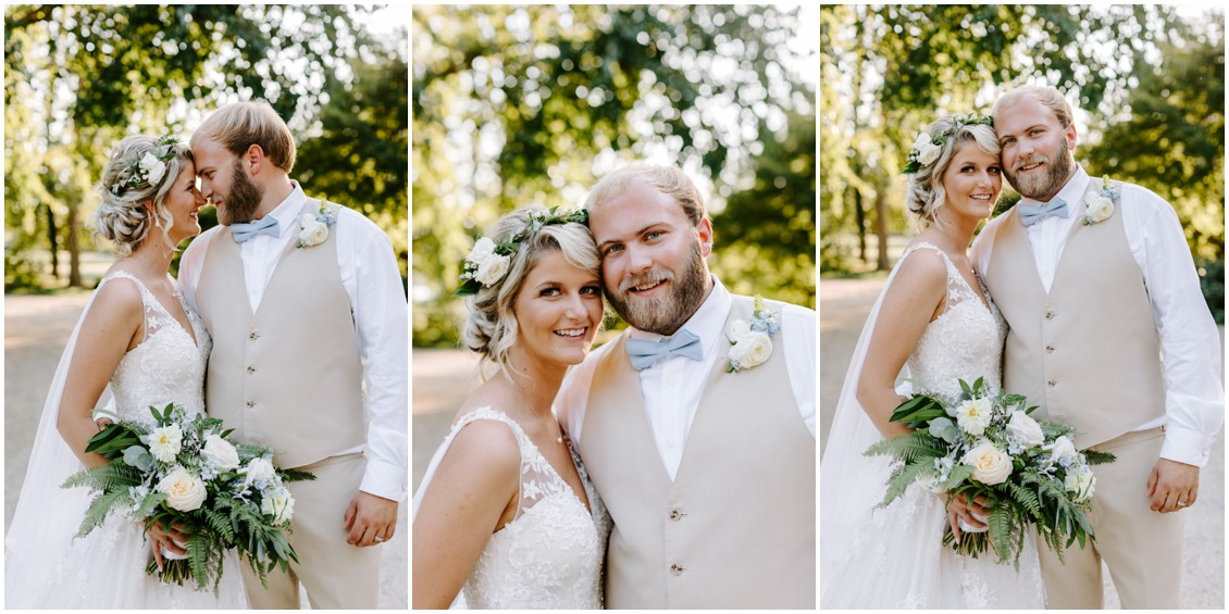 Bride and groom portrait with bouquet | My Eastern Shore Wedding | Sherwood Florist
