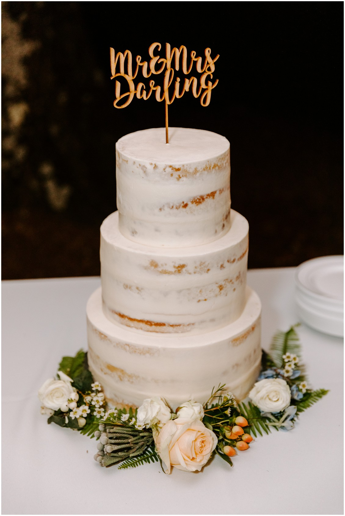 Wedding Cake| My Eastern Shore Wedding | Sherwood Florist | Eastern Shore Tents and Events