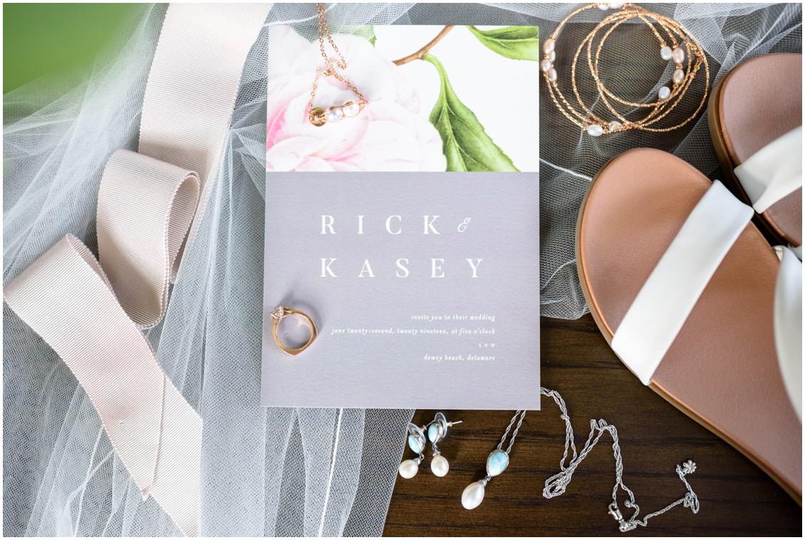 Wedding invitation and details | My Eastern Shore Wedding | J. Nicole Photography