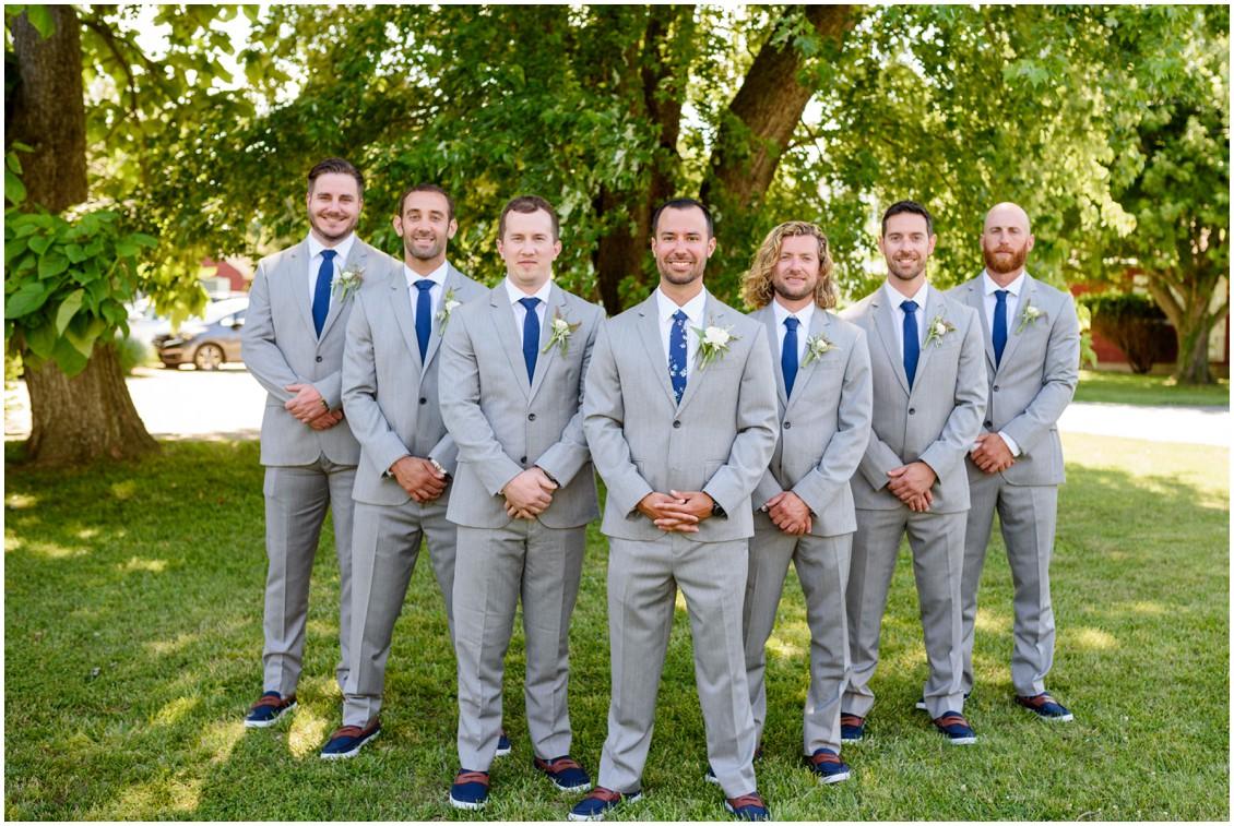 Groom with groomsmen | My Eastern Shore Wedding | J. Nicole Photography
