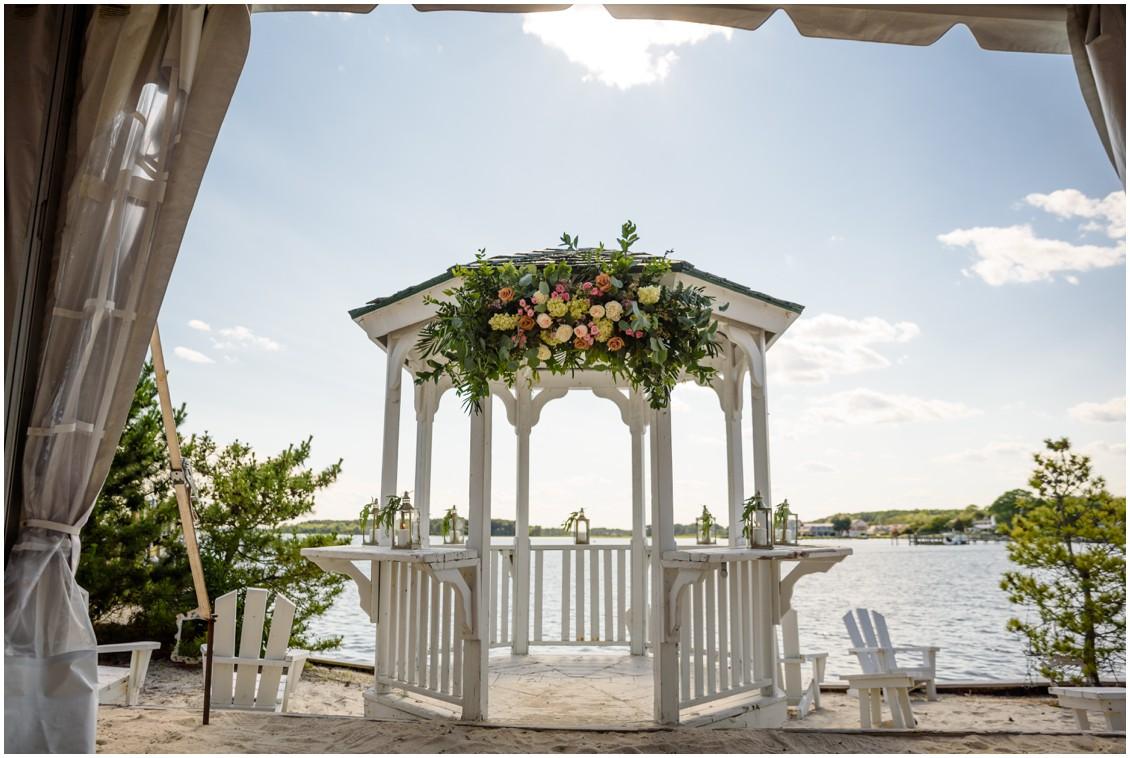 Gazebo with bridal flowers| My Eastern Shore Wedding | J. Nicole Photography