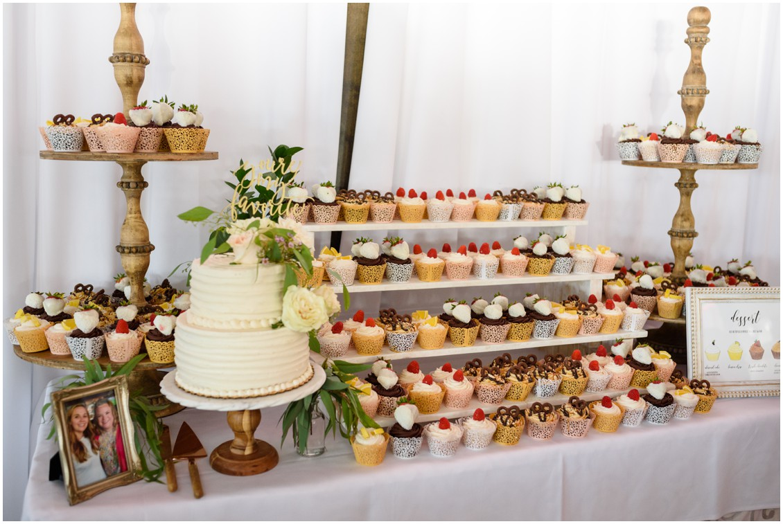 Incredible cupcake display| My Eastern Shore Wedding | J. Nicole Photography