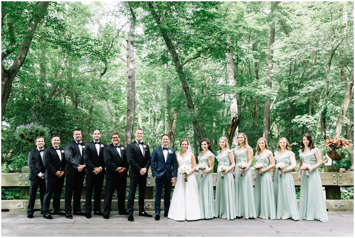 Bride and Groom with bridal party | My Eastern Shore Wedding | The Clubhouse at Baywood