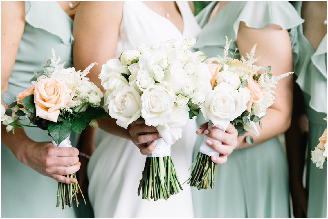 Bridal bouquet abundant beauty details | My Eastern Shore Wedding | The Clubhouse at Baywood