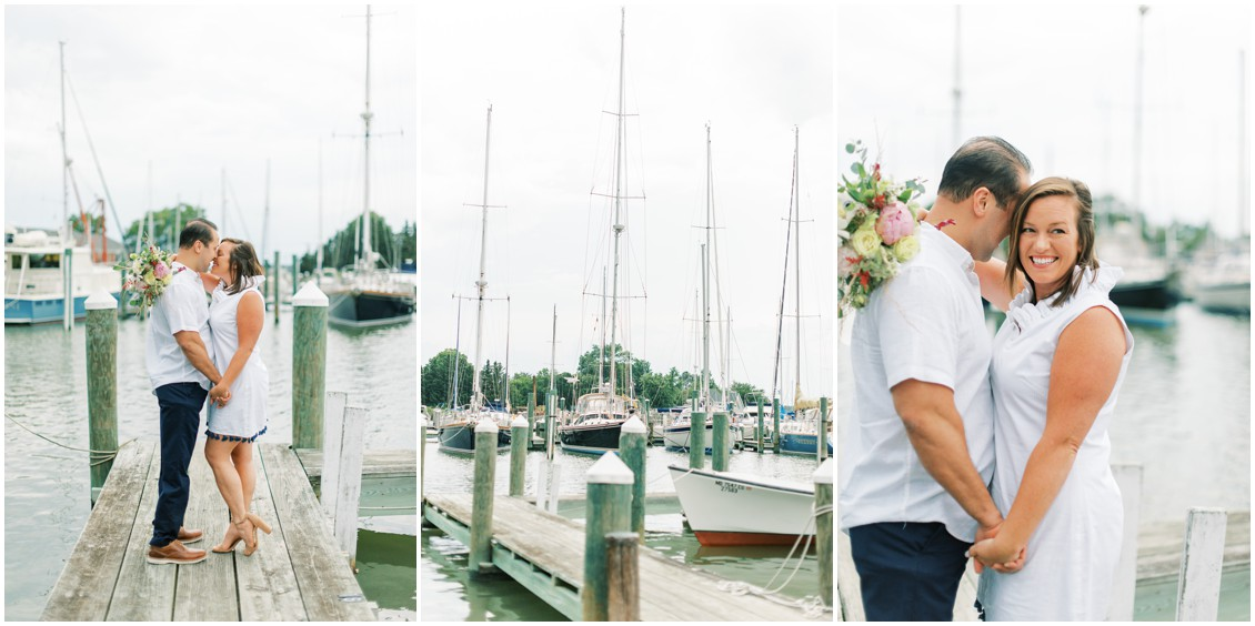 Romantic Engagement in Oxford | My Eastern Shore Wedding | Chesapeake Blooms