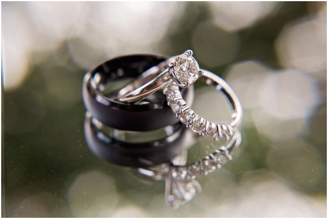 Detail shot of bridal rings | My Eastern Shore Wedding | Chelsea Fluharty Photography