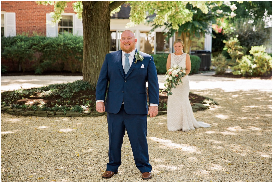 First look perfect pair| My Eastern Shore Wedding | Chelsea Fluharty Photography