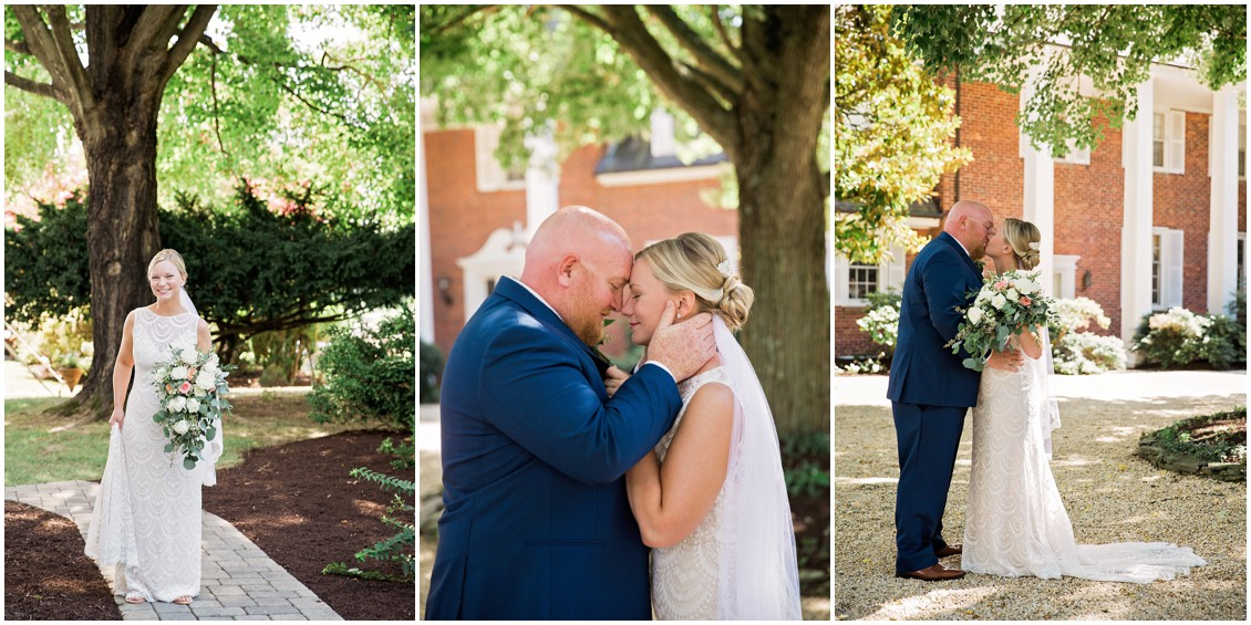 Bride and groom first look perfect pair| My Eastern Shore Wedding | Chelsea Fluharty Photography