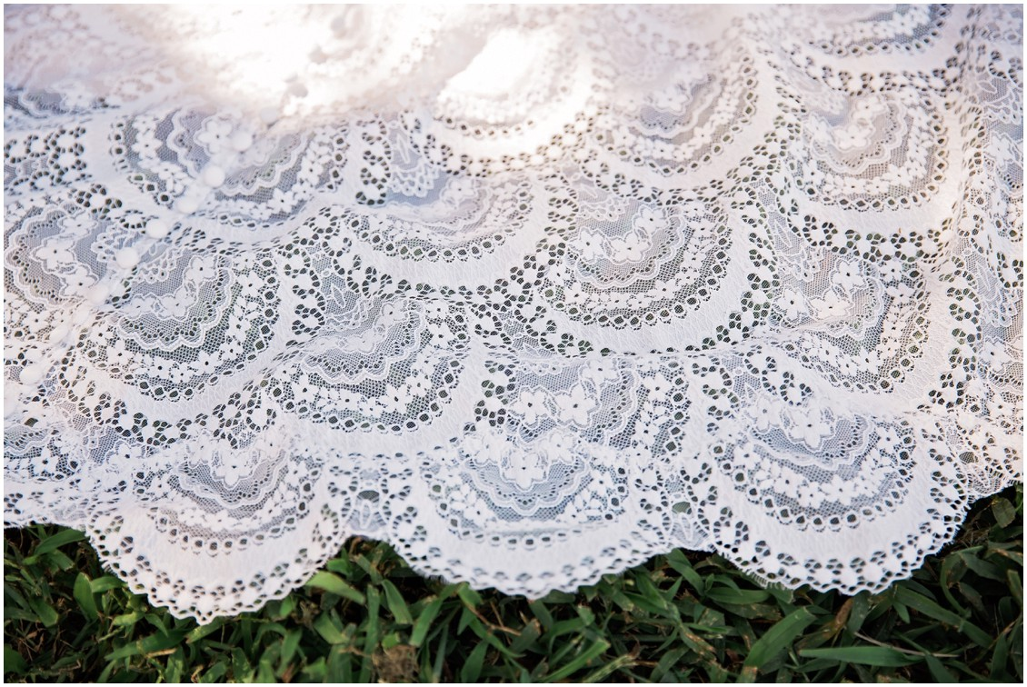 detail of lace dress | My Eastern Shore Wedding | Chelsea Fluharty Photography