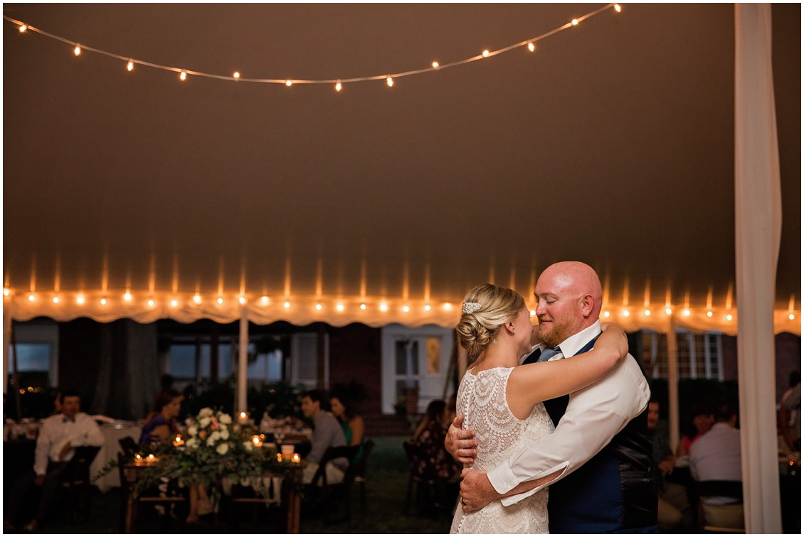 Bride and groom first dance perfect pair| My Eastern Shore Wedding | Chelsea Fluharty Photography