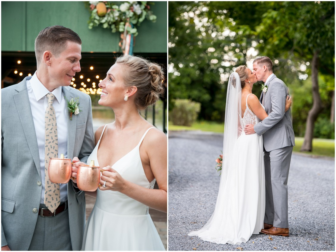 Bride and groom portraits, pineapple theme wedding | My Eastern Shore Wedding | The Oaks | Monteray Farms