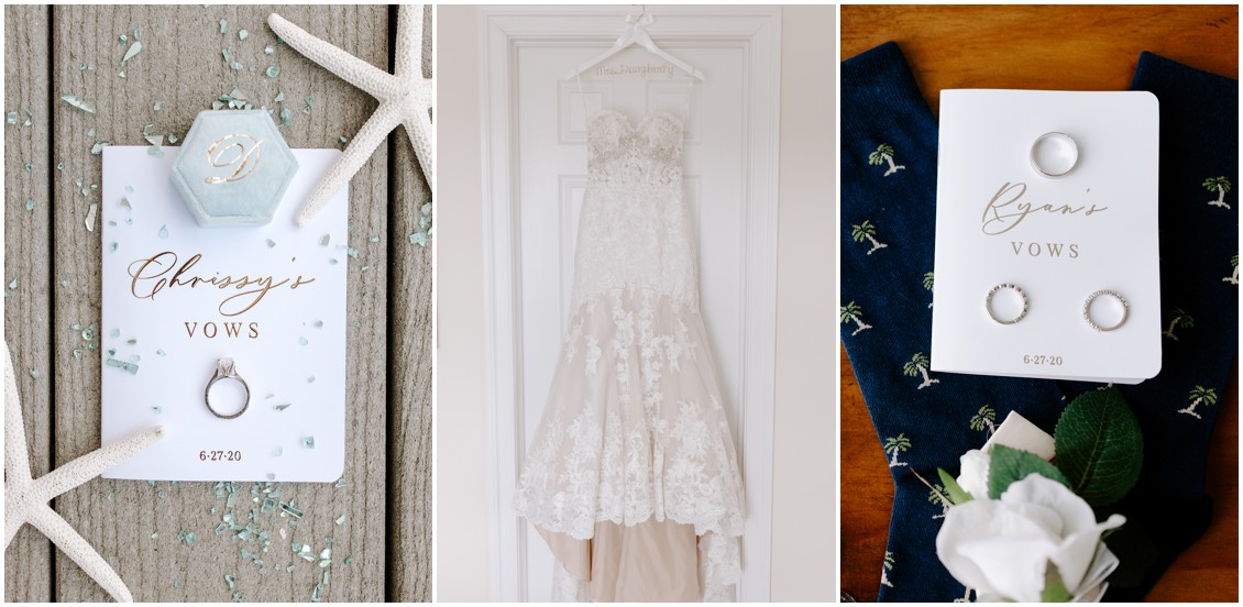 Bridal details small wedding big heart | My Eastern Shore Wedding | Bayside Resort