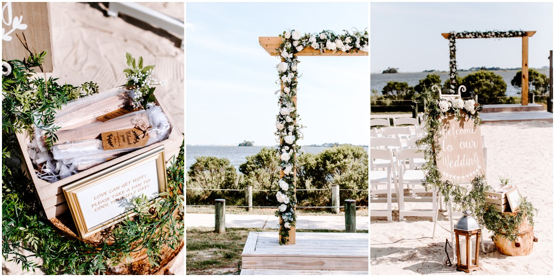 Setup for small wedding with a lot of heart | My Eastern Shore Wedding | Bayside Resort
